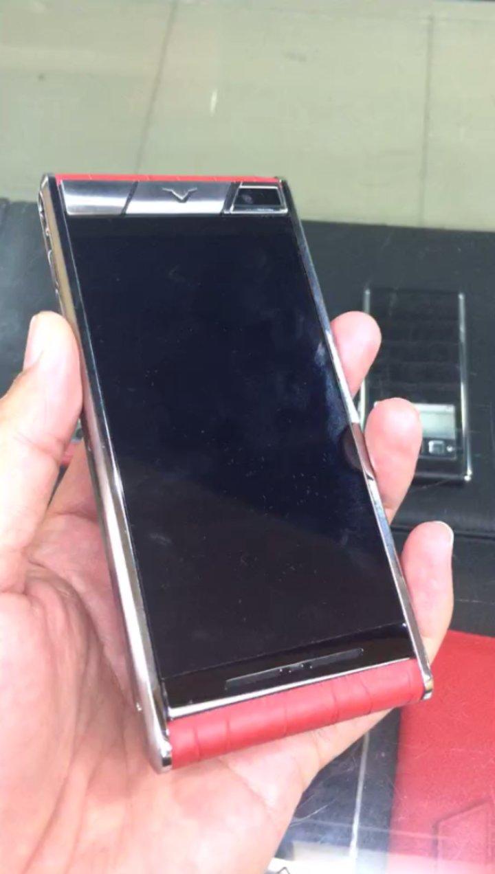 高仿威图 红色鳄鱼皮轻奢手机,精仿威图宾利系列可定制版